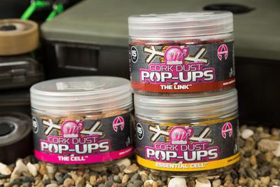Mainline plovoucí boilies Dedicated Base Mix Cork Dust Pop Ups