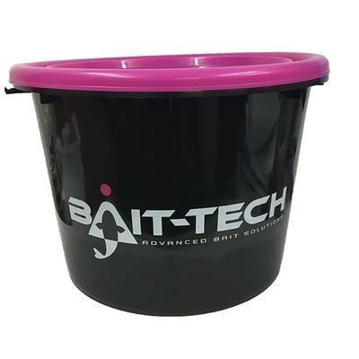 Bait-Tech kbelík s víkem Groundbait Bucket and Lid - černý/růžový (BT-2501575)