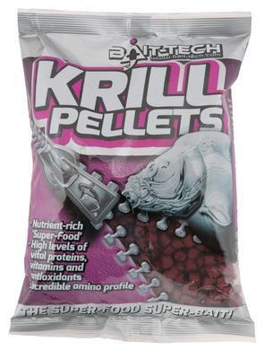 Bait-Tech pelety Krill Pre-Drilled 900 g