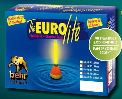 Behr chemické světýlko Euro Lite žlutozelené 4,5 x 39 mm (1044422)