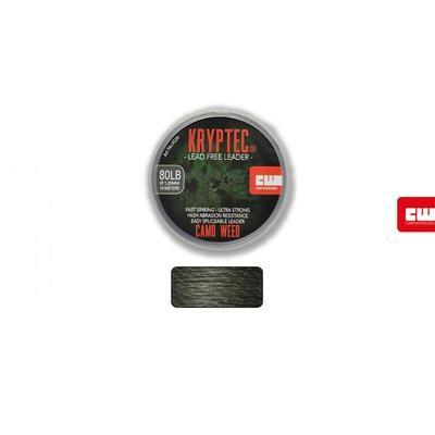 Carp Whisperer těžká šňůra Kryptec Lead Free Leader Weed zelená 80lb 1,2 mm (KLW) - 1