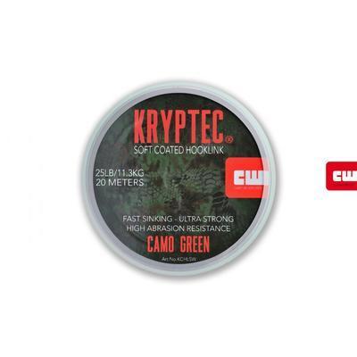 Carp Whisperer ztužená šňůrka Kryptec Coated Hooklink Soft Camo Gravel - 1