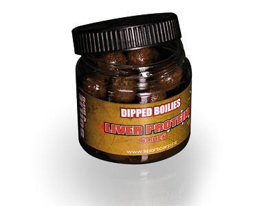 Sportcarp boilies v dipu Dipped Boilies Liver Protein Squid 18 mm (oliheň)