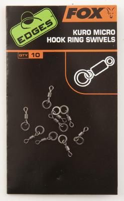 Fox malé obratlíky s kroužkem Edges Kuro Micro Hook Ring Swivels (CAC586) - 1