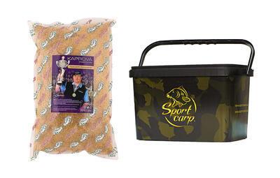 Sportcarp kaprová vnadící směs Speciál R. Konopásek žlutá feeder 2 kg + kbelík