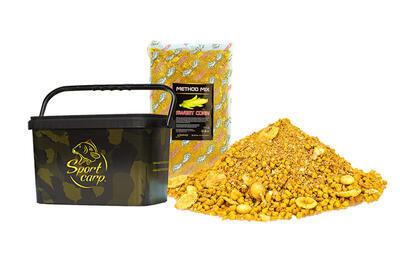 Sportcarp Method mix Sweet Corn 2 kg + camo kbelík