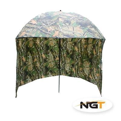 NGT deštník s bočnicí kamuflážní 220cm (FBB-BROLLY-45-SIDE-CAM)