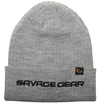Savage Gear čepice Fold Up Beanie Light Grey Melange (73741)