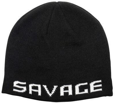 Savage Gear čepice Logo Beanie Black White (73739)