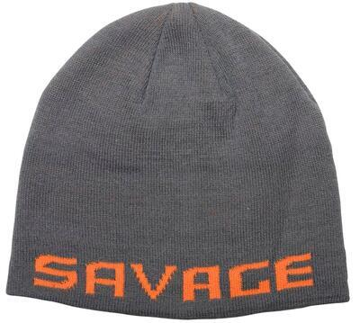Savage Gear čepice Logo BeanieRock Grey Orange (73738)