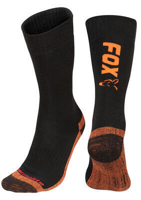 Fox termo ponožky Black/Orange Thermolite Long Socks