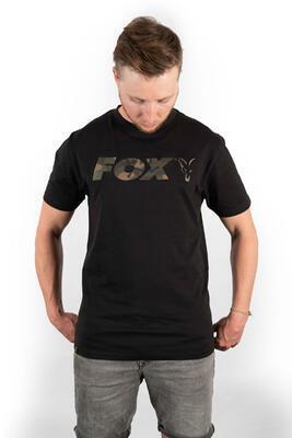 Fox tričko Black/Camo Chest Print T-Shirt vel. M (CFX020) - 1