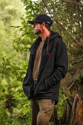 Fox mikina s kapucí Collection Black/Orange Sherpa Hoodie - 2