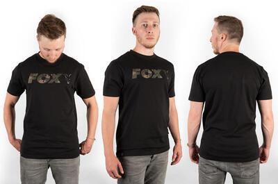 Fox tričko Black/Camo Chest Print T-Shirt vel. M (CFX020) - 2