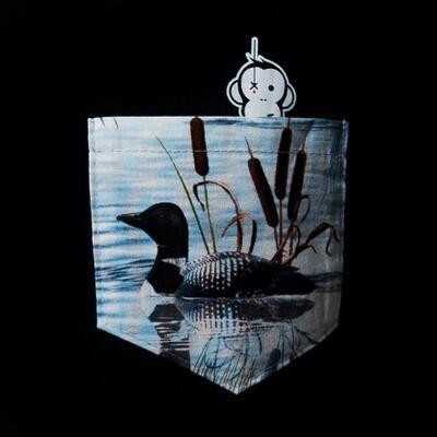 Monkey Climber tričko Duckhunt Pocket Tee Black - 2