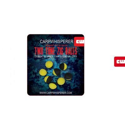 Carp Whisperer plovoucí pěnové nástrahy Two Tone Zig Balls - 3