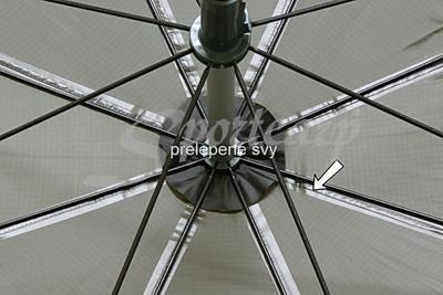 Delphin rybářský deštník s odepínatelnou bočnicí (435001ZEL) - 3
