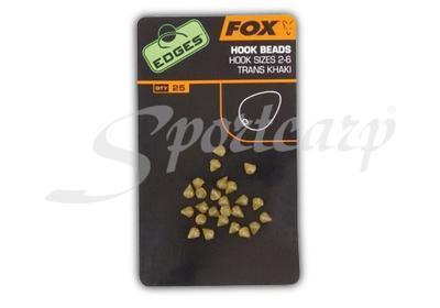 Fox zarážky na háček Edges Hook Bead Khaki pro háčky - 3