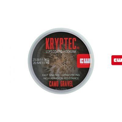Carp Whisperer ztužená šňůrka Kryptec Coated Hooklink Soft Camo Gravel - 3