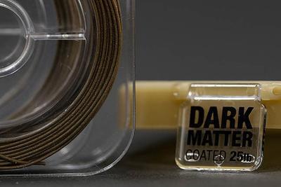 Korda ztužená šňůrka Dark Matter Tungsten Coated Hooklink 25 lb Brown (hnědá) (KDMCG25) - 3