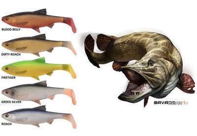 Savage Gear gumové nástrahy 3D River Roach 2 ks 22 cm 125 g - 3