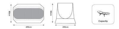 Carp Spirit Přenosný přístřešek Arma Skin SCS (ACS540045) - 3