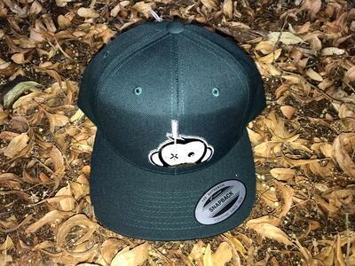 Monkey Climber kšiltovka Logo Patch Snapback Green - 3
