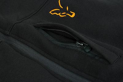Fox mikina s kapucí Collection Black/Orange Sherpa Hoodie - 5