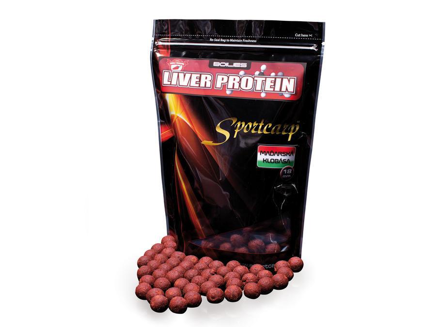 Sportcarp boilies Liver Protein Hungarian Sausage (maďarská klobása) 18 mm 1 kg