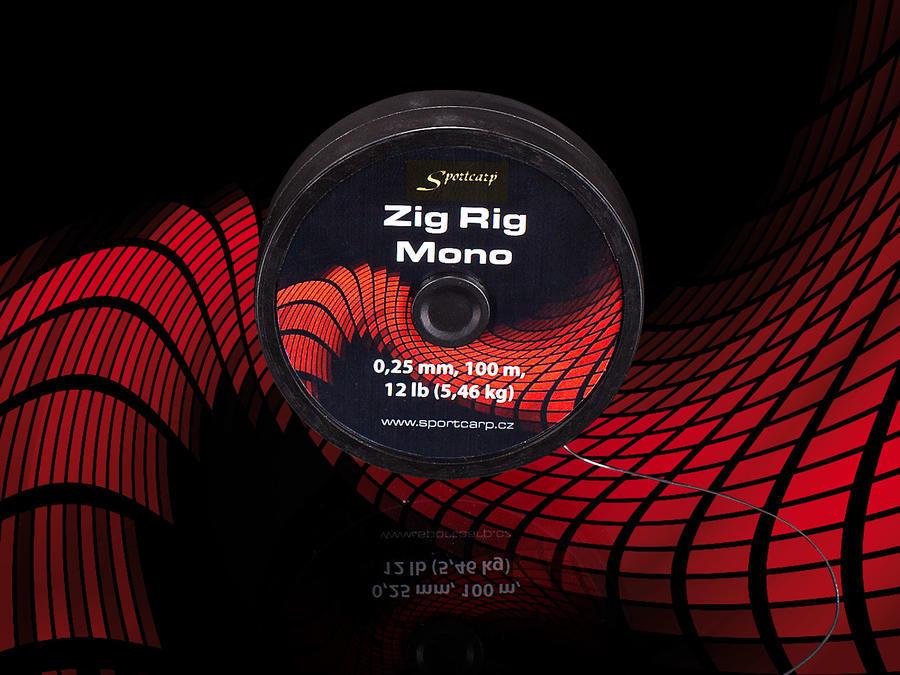 Sportcarp rybářský vlasec Zig Rig Mono 0,28 mm 15 lb 6,82 kg